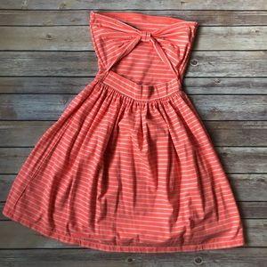 Ocean Drive Peach Cur-Out Back Cotton Sundress